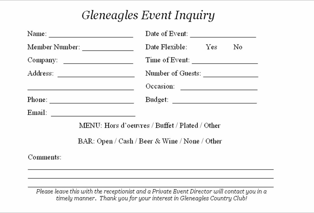 after hours inquiries private events idea share